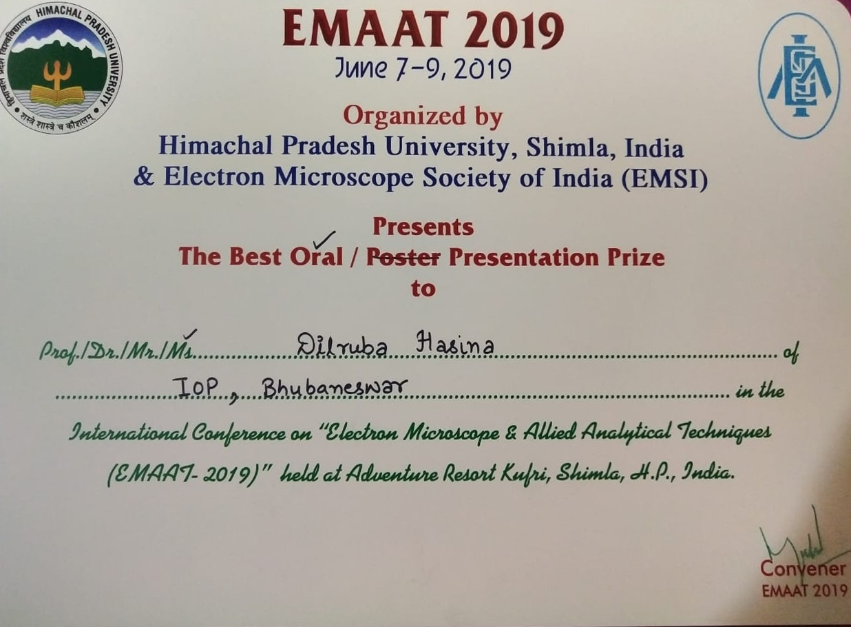 Awards & Recognitions :: Institute of Physics, Bhubaneswar