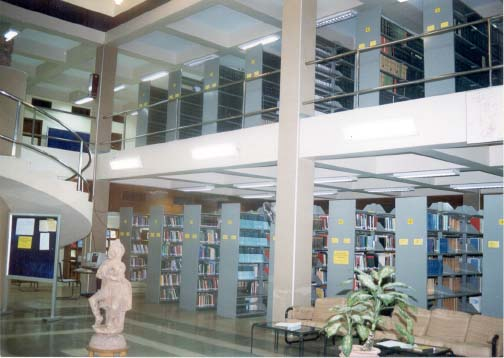 A view of the library of the Institute